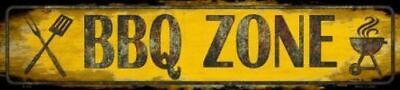 BBQ Barbecue Zone Metal Street Sign 18