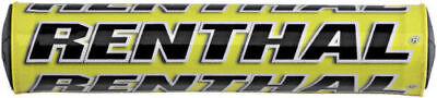 "Renthal SX Bar Pad -YELLOW- Crossbar Pad -10""- High Density Foam MX"