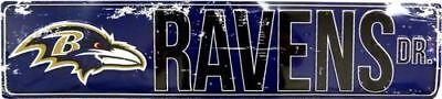 BALTIMORE RAVENS STREET METAL 24 X 5.5