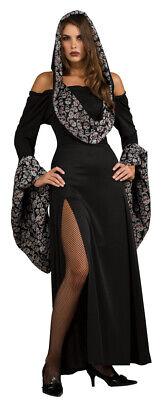 Dressing Goth For Halloween (Skull Robe Halloween Gothic hooded dress Costume for)
