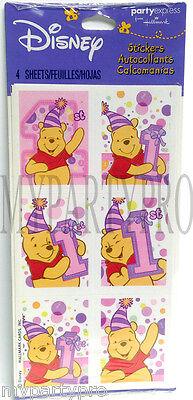 Winnie the Pooh 1st Birthday Pink Stickers Favors Birthday Party Supplies](Winnie The Pooh 1st Birthday)