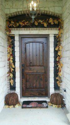 Rustic Arch Top Knotty Alder Single Entry Door Arch Top Entry Doors