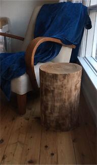 Australian Hardwood Tree Stump Stool Or Side Table