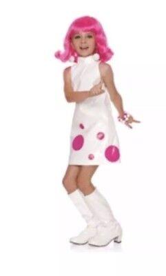 Chasing Fireflies WISHCRAFT White GOGO Disco Dress Costume Girls Size 6](Girls Disco Costumes)