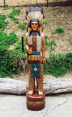 John Gallagher Carved Wooden Cigar Store Indian 6 ft. Story Board in Stock !