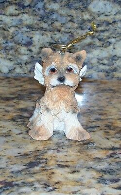 Angel Collectible Dog Ornament - Yorkie Dog Angel With Wings & Halo Christmas Tree Ornament Collectible Figurine