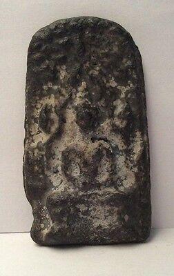 Figure Amulet Antique Plate Bronze - 1 Buddha Thaïlande11