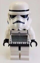 EUC Lego Star Wars Storm Trooper Digital Alarm Clock Lights Up Moveable 10 Tall