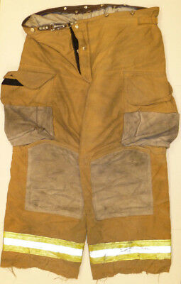 42l Pants Firefighter Turnout Bunker Fire Gear W Liner Janesville Lion P837