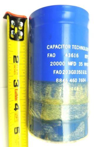 FA0203G035EG1L Capacitor Tech 20000 uF 35 VDC 85C from ABB Motor Drive