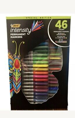 Bic Intensity 46 Pack Permanent Markers 10 Metallic 24 Fine 12 Ultra Fine Fship