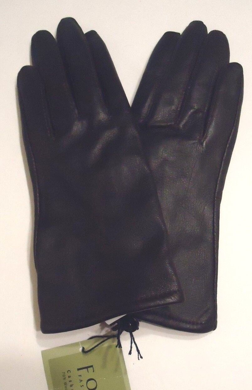 Ladies leather gloves extra small - Ladies Fownes 100 Cashmere Lined Genuine Leather Gloves