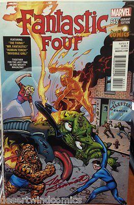 Fantastic Four #645 DWC Joe Sinnott Variant Cover SIGNED