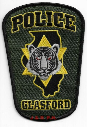 """*NEW*  Glasford , Illinois  (3.5"""" x 5"""" size) shoulder police patch (fire)"""