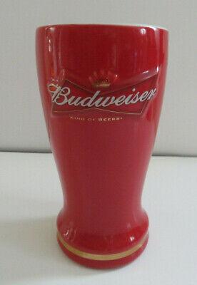 Encore - Anheuser-Busch - 16oz Budweiser Ceramic Pilsner - Red ~ HEAVY (G)