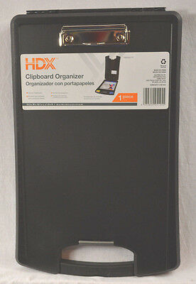 Plastic Clipboard Organizer Storage Case 10 X16 Ltr Hdx Black With Handle New
