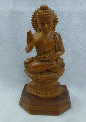 Early 20th century Indian Boxwood Figure of Buddha - Finely Carved Antique