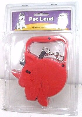 (Red Automatic 10 Feet Retractable Dog Leash Pet Lead)