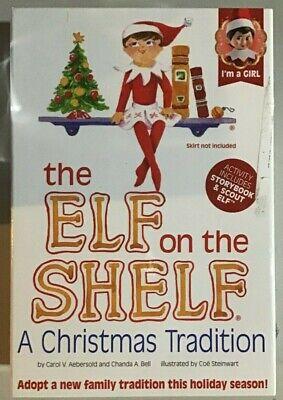 Elf on the Shelf Doll and Book - Girl - Blue Eyes Dark Hair - Brand NEW