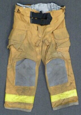 44x30 Janesville Yellow Firefighter Pants Turnout Bunker Fire Gear P094