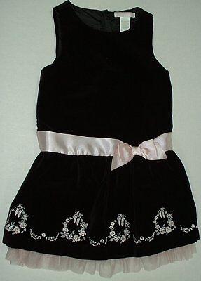 Janie n Jack Black Tie Ballet Black Velvet Sleeveless Holiday Dress Ballet 3Y ()