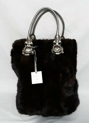 Falorni Italia le Borse - REAL Mink Bag / Purse Made in Italy-New With Tags