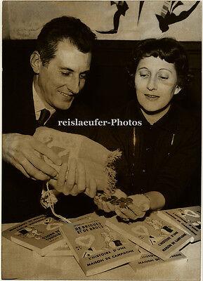 Orig.Photo, Jacqueline und Jean Diwo, Preisträger, 1957