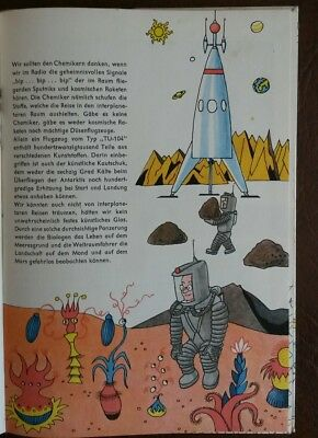 DDR Kinderbuch Chemie 1962 Rakete Weltraum Utopie science fiction up scifi Mars