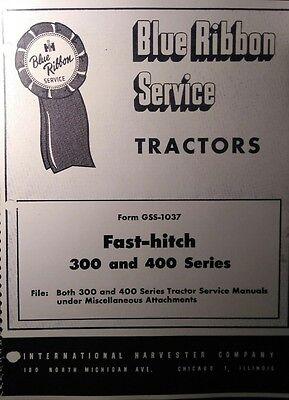 Farmall International Fast Hitch 300 350 450 400 Tractor Service Manual 16pg Ih