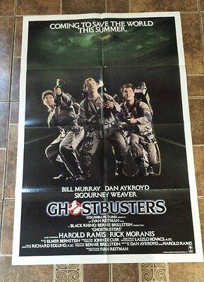 GHOSTBUSTERS 1984 ORIGINAL 1SH MOVIE POSTER 27X41 RARE NSS VERSION