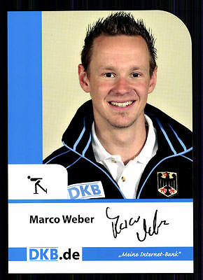 Marco Weber TOP Autogrammkarte Original Signiert Eisschnellauf +A 75578