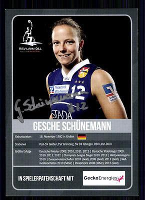 Gesche Schünemann Autogrammkarte Original Signiert TOP Baskettball +A 74171