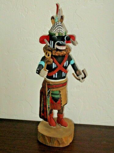 """Hopi Proud War God Kachina by Tino Youvella, 11"""" Tall - Pookang Kwivi"""