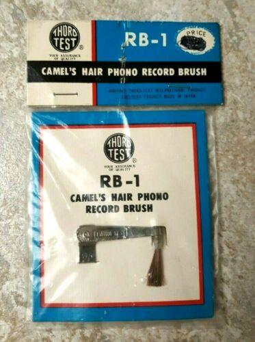 Vintage Phono Record Brush Camel