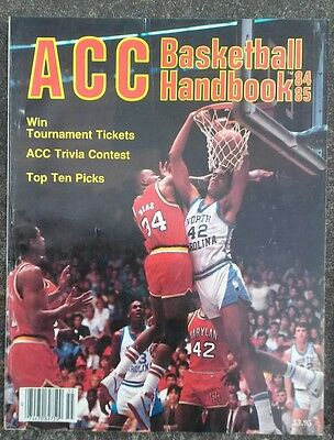 VINTAGE 1984-1985 ACC BASKETBALL HANDBOOK PROGRAM UNC CAROLINA MARYLAND COVER