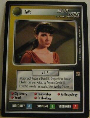 Star Trek TNG CCG Dominion Salia Rare Card