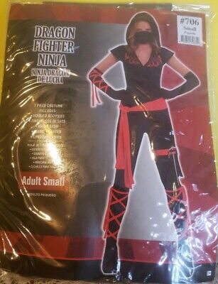 Dragon Fighter Womens Adult Sexy Spy Warrior Ninja Assassin Costume Adult Small