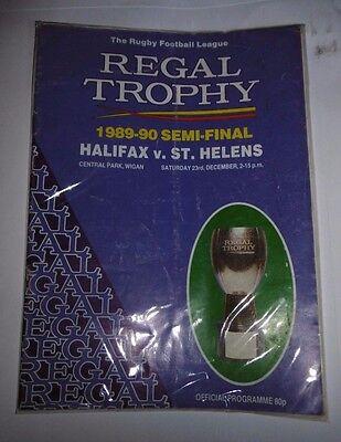 Halifax v St Helens 23rd Dec 1989 Regal Trophy Semi-Final @ Central Park, Wigan