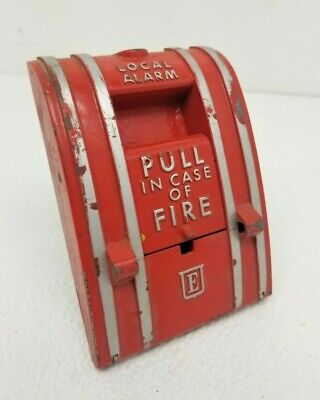 Vintage Edwards General Signal Fire Pull Station 270-spo In Original Box