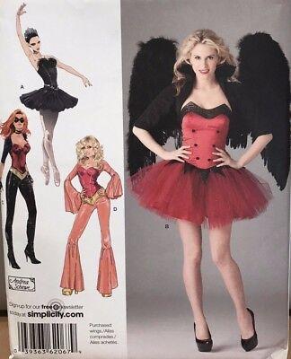 SEWING PATTERN Simplicity 2067 BALERINA 60's 70's DISCO SUPER HERO sz 14-22 ](Female Superhero Plus Size Costumes)