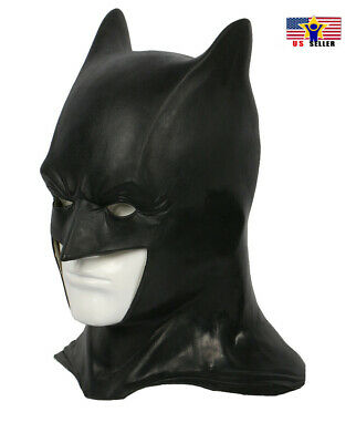 Latex Batman Halloween Mask (Batman Dark Knight Costume Latex Rubber Head Man Horror Scary Mask)