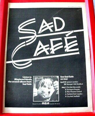 Sad Cafe Misplaced Ideals/UK Tour Vintage ORIG 1978 Press/Mag ADVERT Poster-Size