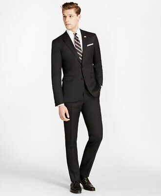 Brooks Brothers Milano Fit Strech Wool Two-Button 1818 Suit