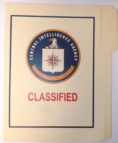 CIA Classified Folder NRO DOD FBI DIA NSA CIA MI6 NSC NCIC ONI DCI POLICE