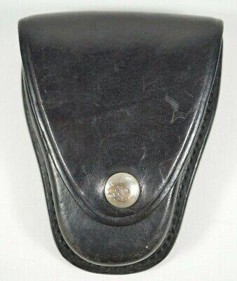 Gould Goodrich Genuine Leather Handcuff Belt Holster Case B70 Black