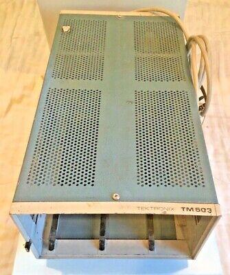 Tektronix Tm 503 Portable Benchtop 3-slot Power Module Mainframe Unit