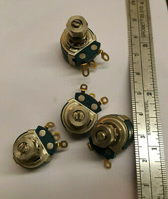Free Ship 2 Pcs. Clarostat 48m9 100k Ohm Locking Potentiometer Linear Solder