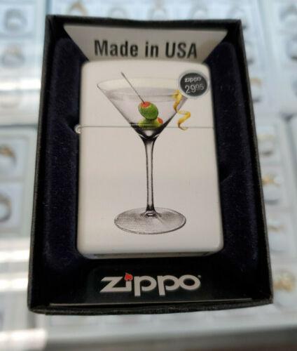 New Old Stock ZIPPO LIGHTER, MARTINI-SOFT WHITE FINISH # 28271 - Free Shipping~