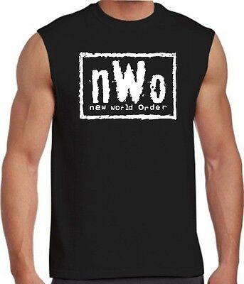 New World Order T-Shirt nWo Logo WCW Professional Wrestling TANK TOP SLEEVELESS New World Order T-shirt