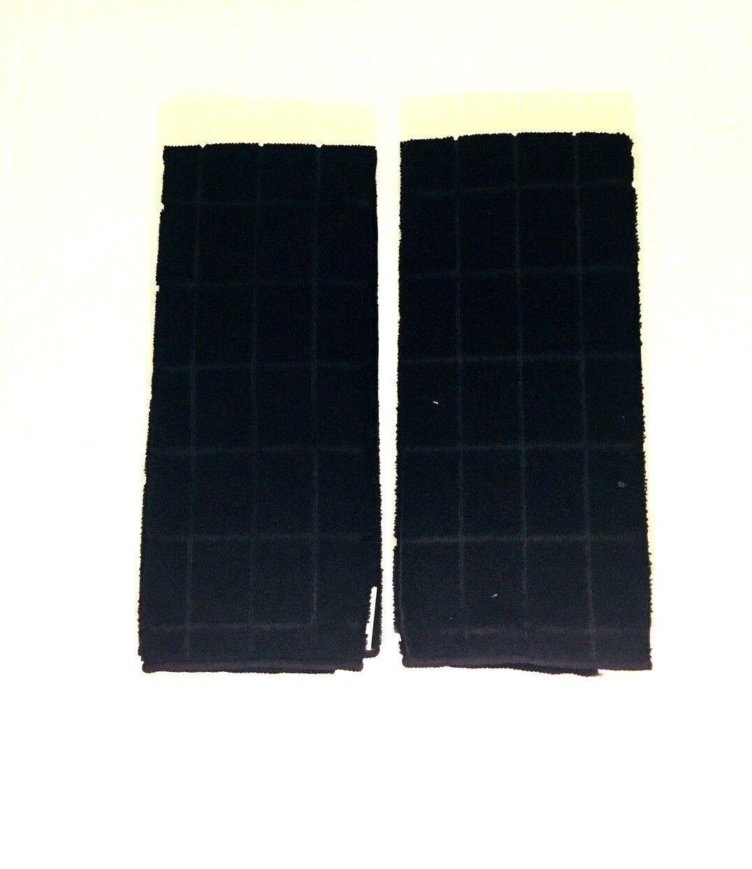 Kitchen Dish Hand Towels Black Solid Color Set Of Two New 15